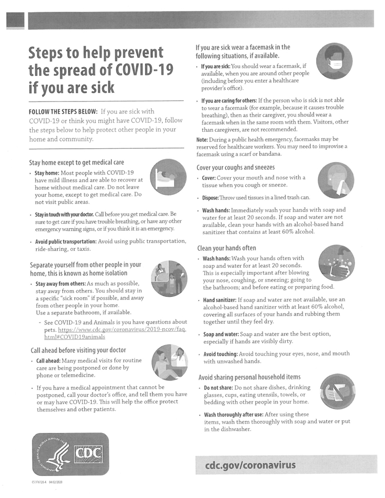 Steps to Help Prevent COVID-19 Part 1