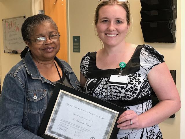 Rebecca certificate of appreciation