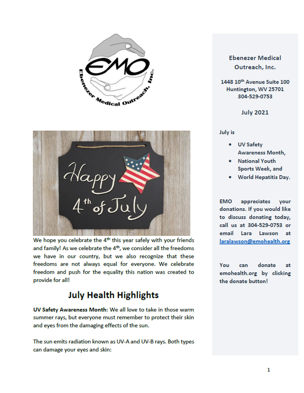 2021-07 July Newsletter Cover